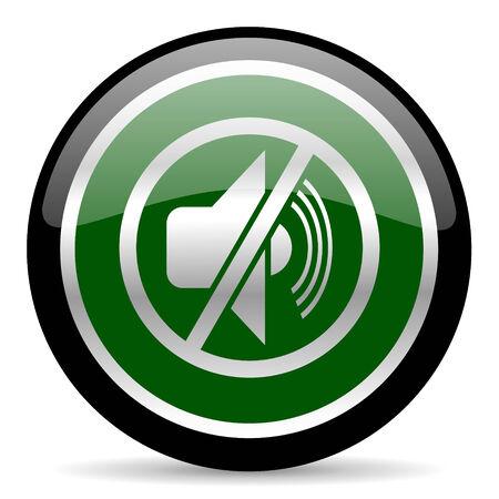 dumb: green web button Stock Photo