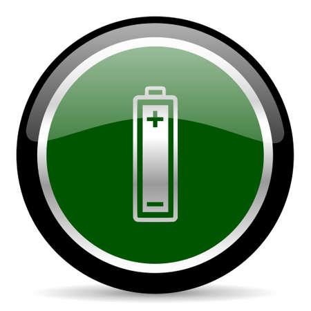 accuse: green web button Stock Photo