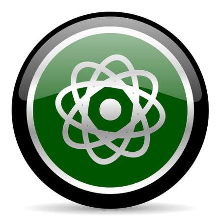 atomic: green web button Stock Photo