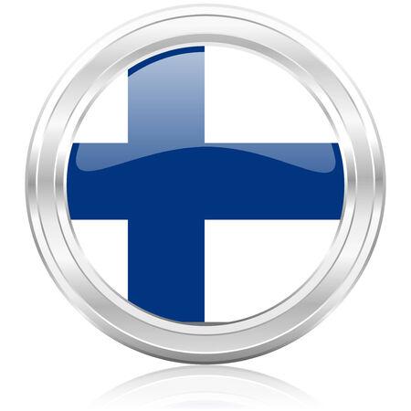 bandera de finlandia: icono de la bandera de finlandia Foto de archivo