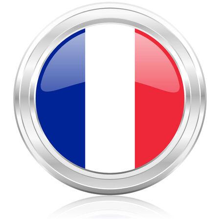 bandera francia: icono de la bandera francia