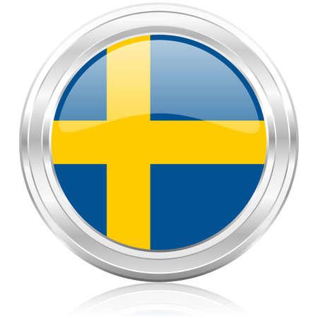 sweden flag: Svezia Bandiera icona Archivio Fotografico