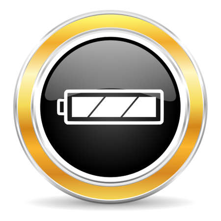 accuse: black web button with golden ring Stock Photo