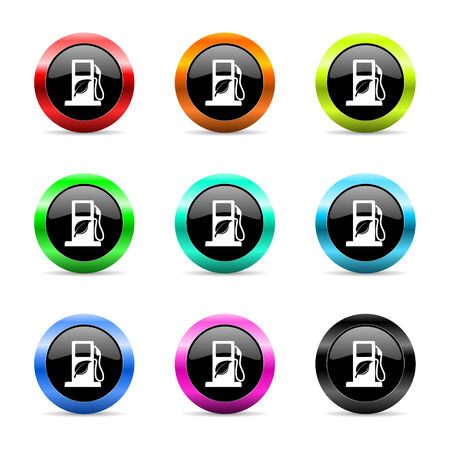 canola: web buttons set on white background Stock Photo