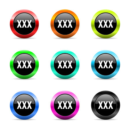 web buttons set on white background photo
