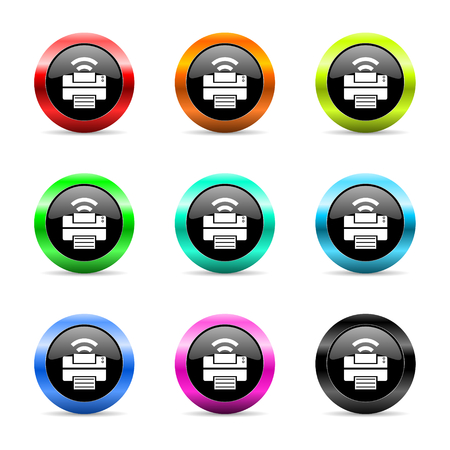 web buttons set on white background Stock Photo - 26687909