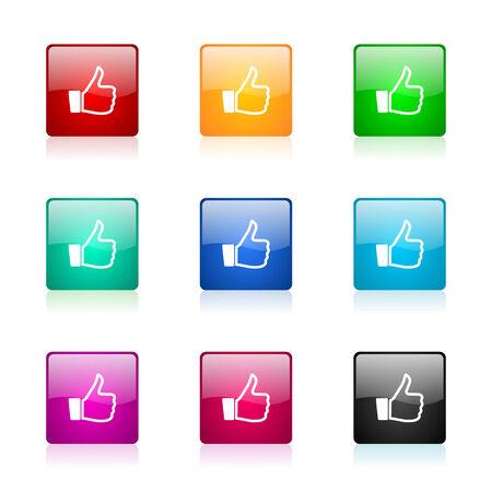 i like: set of colorful icons