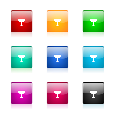 champain: set of colorful icons