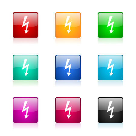 set of colorful icons photo