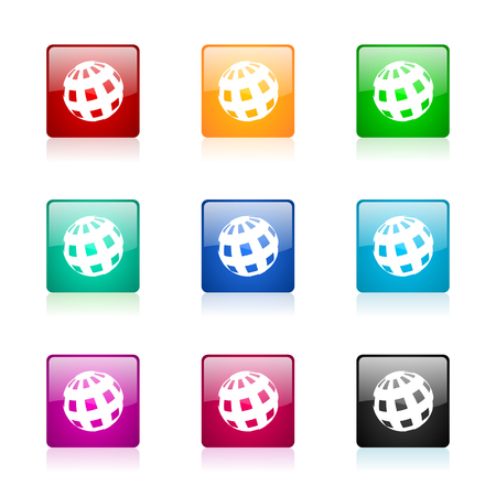 parallels: set of colorful icons
