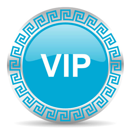 blue web button in greek style photo