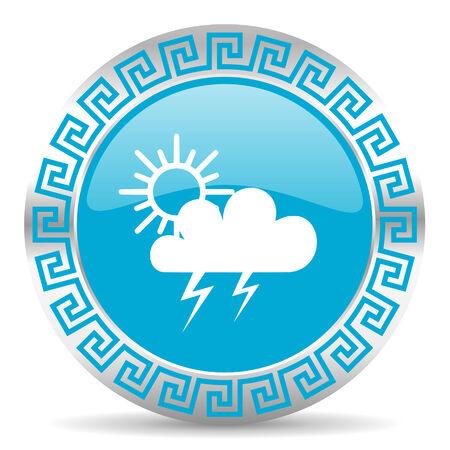 meteo: blue web button in greek style