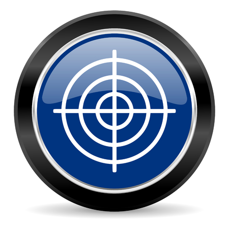 blue circle web button Stock Photo - 27129550