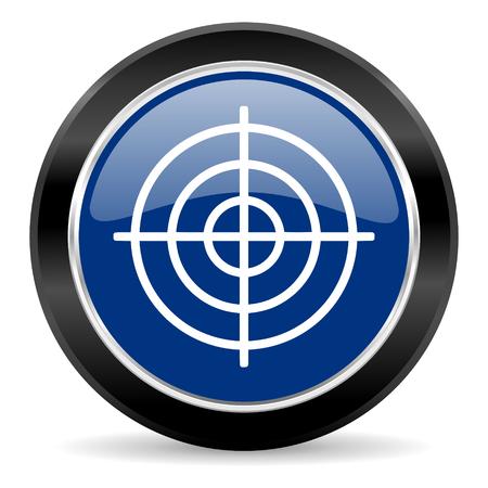 blue circle web button Stock Photo - 27129550