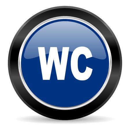 blue circle web button Stock Photo - 27129840
