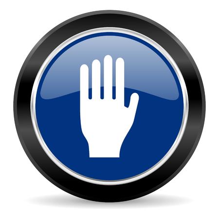 blue circle web button Stock Photo - 27129926