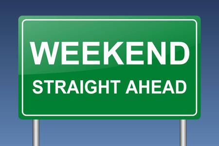 weekend ahead traffic sign Stock Photo - 27134618