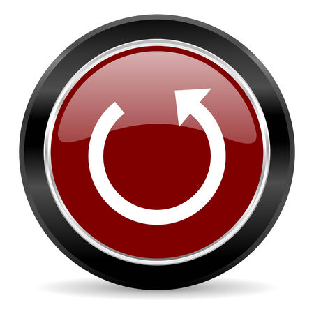 red glossy web button photo