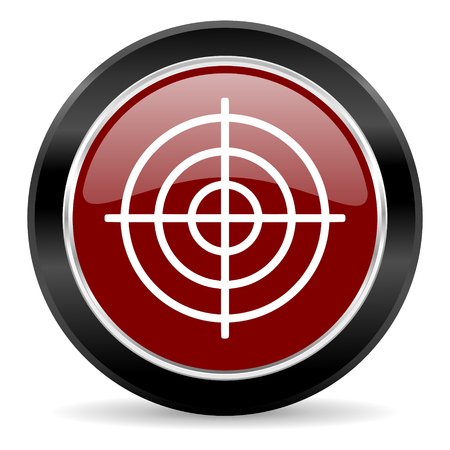 red glossy web button Stock Photo - 27135260