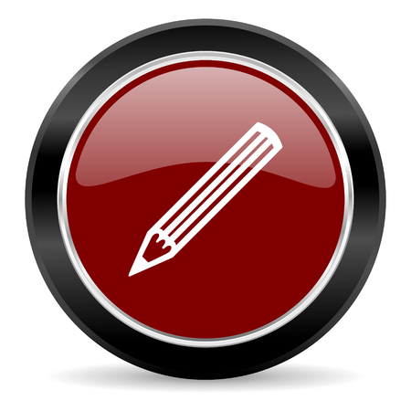red glossy web button Stock Photo - 27135331