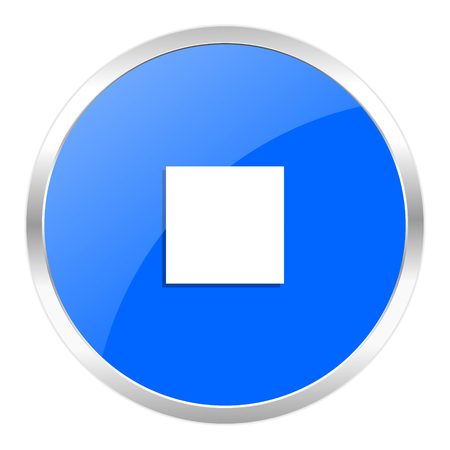 blue web icon isolated photo