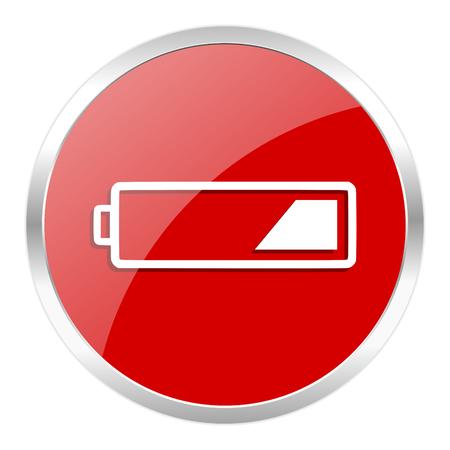 分離された赤い web ボタン