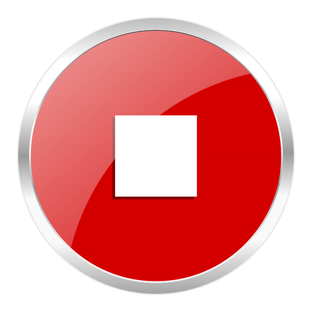 red web button isolated photo