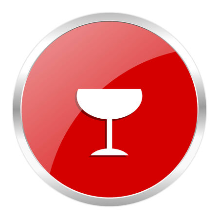 champain: red web button isolated