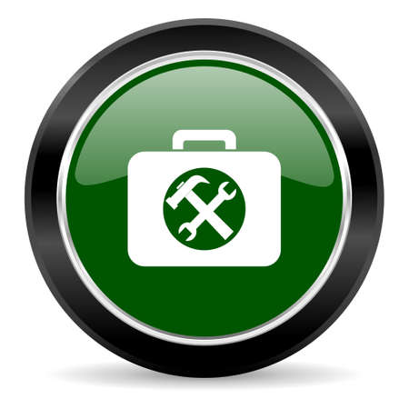 green glossy web button photo
