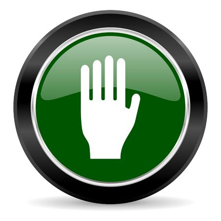 green glossy web button Stock Photo - 27369930