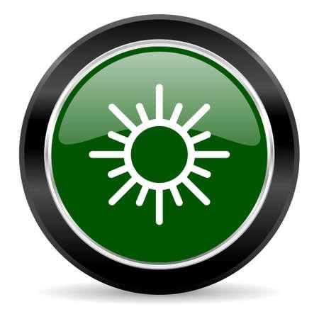 meteo: green glossy web button Stock Photo