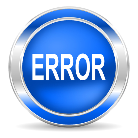 error icon Stock Photo - 27435402