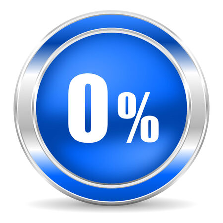 0 percent icon  photo