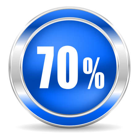70: 70 percent icon  Stock Photo