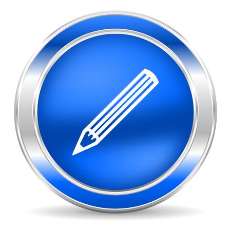 pencil icon Stock Photo - 27435138