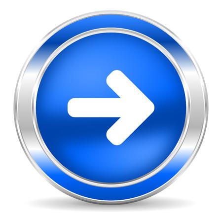 freccia destra: freccia a destra l'icona