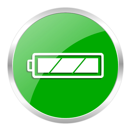 green web gloosy button Stock Photo - 27537742