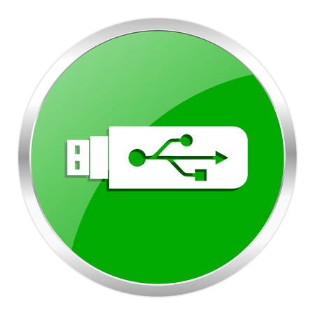 green web gloosy button photo