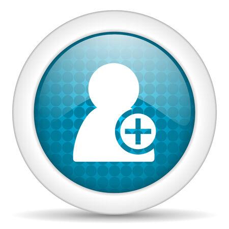icon glossy: blue web glossy icon
