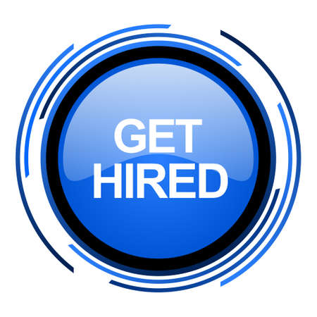 hired: get hired icon  Stock Photo