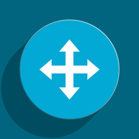sterring: blue web button Stock Photo