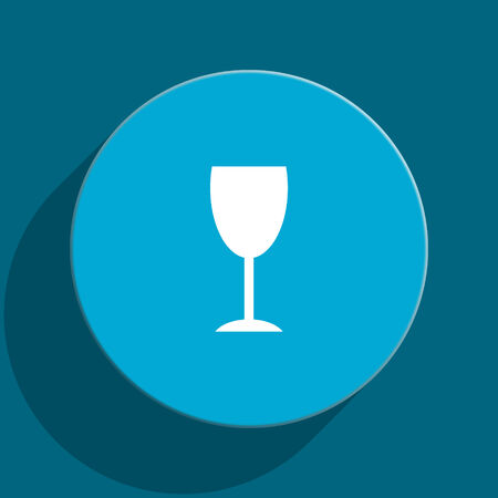 champain: blue web button Stock Photo