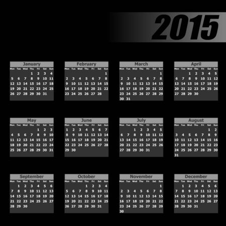 mondays:  calendar 2015 monday firts