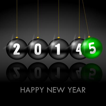2015 nieuwe jaar illustratie met kerstballen