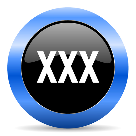 blue circle glossy web icon photo