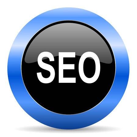 blue circle glossy web icon Stock Photo - 28104248