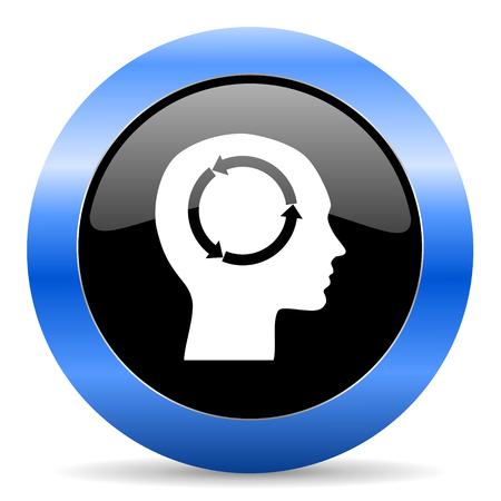 keen: blue circle glossy web icon