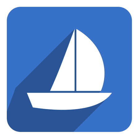 sail flat icon photo