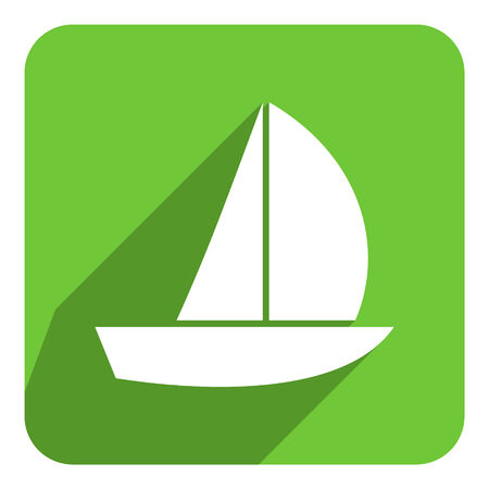sail flat icon photo
