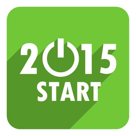 new years 2015 flat icon Stock Photo - 28129418